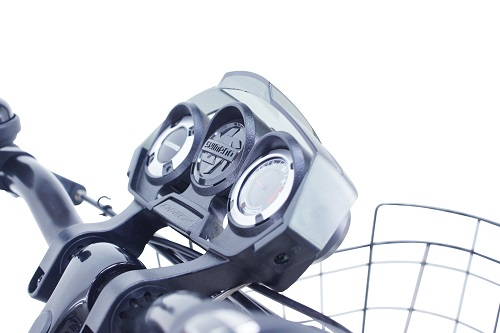変速段数の位置が見えるシマノ製CIデッキ装備