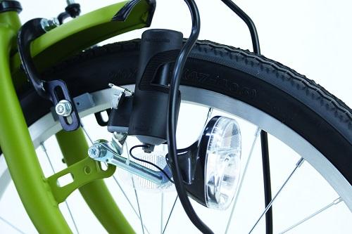 ・LEDブロックダイナモライト夜間走行でも明るいLEDライトを装備