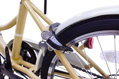 盗難防止のシリンダータイプのリング錠